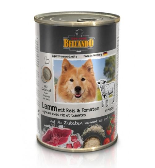 کنسرو گوشت بره + برنج و گوجه فرنگی بلکاندو مخصوص سگ بالغ/ 400 گرمی