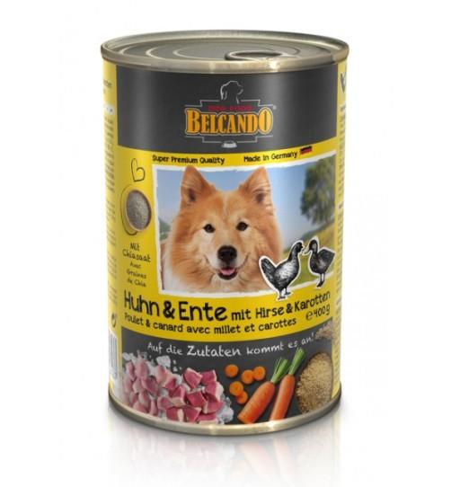 کنسرو مرغ و اردک + ارزن و هویج بلکاندو مخصوص سگ بالغ/ 400 گرمی