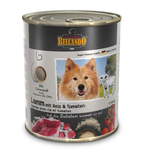 کنسرو گوشت بره + برنج و گوجه فرنگی بلکاندو مخصوص سگ بالغ/ 800 گرمی