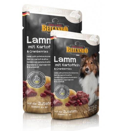 پوچ گوشت بره + سیب زمینی و زغال اخته بلکاندو مخصوص سگ بالغ/ 300 گرم/ Belcando Pouch Lamb with potatoes & cranberries