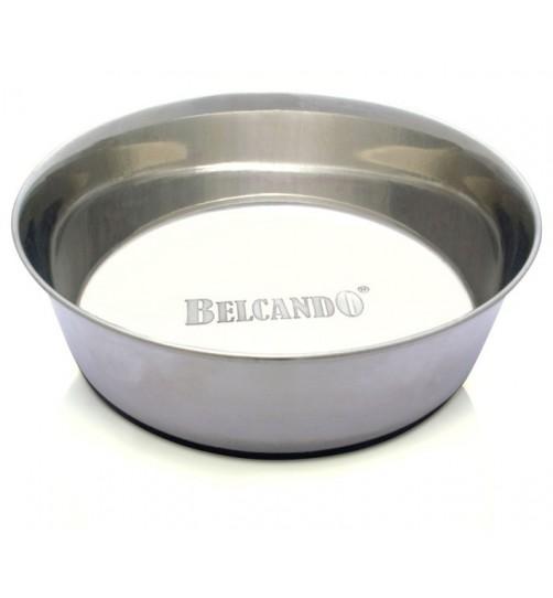 ظرف استیل سنگین سگ با کف تمام استاپ/ 1.5 لیتر