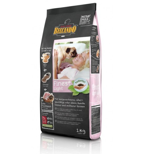 غذای خشک رژیمی مخصوص سگ نژاد کوچک چاق و مستعد چاقی بلکاندو/ 1 کیلویی/ Belcando Finest Light