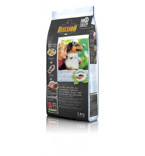 غذای خشک بدون غلات سگ در حال رشد بالای 4 ماه بلکاندو/ 1 کیلویی/ Belcando  JUNIOR GF Poultry
