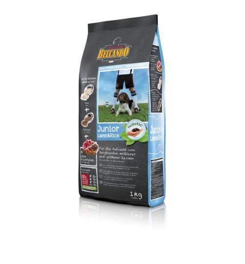 غذای خشک سگ در حال رشد بالای 4 ماه - بره و برنج/ 1 کیلویی/ Belcando JUNIOR LAMB & RICE