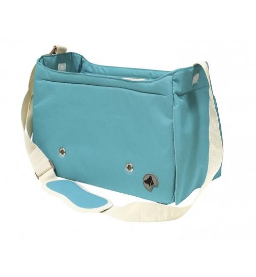 کیف حمل سگ و گربه مدل Megan/ آبی فیروزه ای