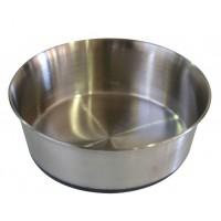 ظرف استیل سنگین سگ با کف تمام استاپ/ 3 لیتر