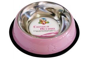 ظرف استیل با رنگ کوره ای مخصوص سگ/  0,95 لیتر