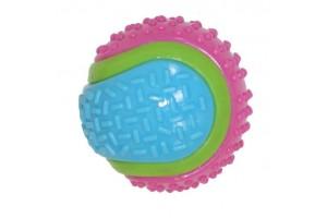 توپ اسباب بازی سگ مدل تنیس/ زنگوله دار/ 8 سانتی