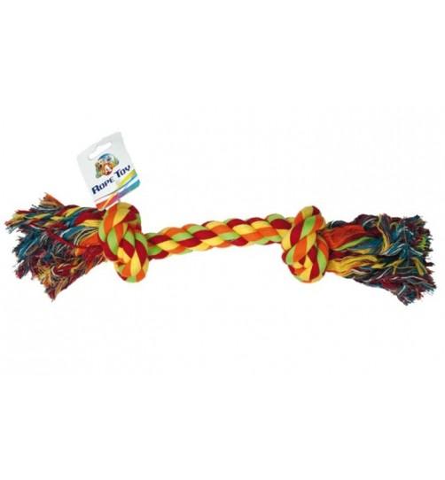 طناب دندانی 2 گره مخصوص سگ/ 18 سانتی
