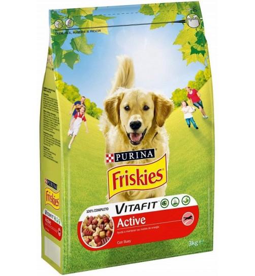غذای خشک سگ فریسکیز Active مخصوص سگ های فعال - 3 کیلویی