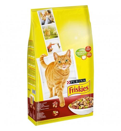غذای خشک گربه فریسکیز با گوشت گاو، مرغ و سبزیجات - 2 کیلویی