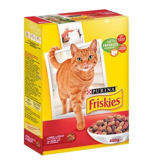 غذای خشک گربه فریسکیز با گوشت گاو، مرغ و جگر - 400 گرمی