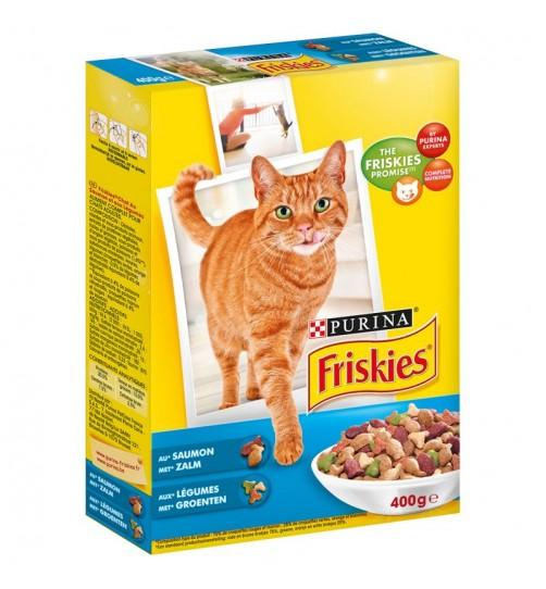 غذای خشک گربه فریسکیز با ماهی سالمون و سبزیجات - 400 گرمی