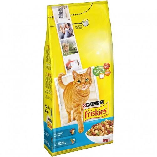 غذای خشک گربه فریسکیز با ماهی سالمون و سبزیجات - 2 کیلویی
