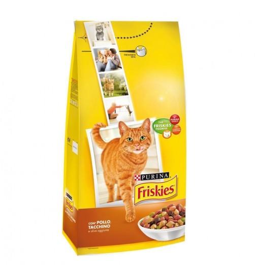 غذای خشک گربه فریسکیز با گوشت مرغ، بوقلمون و زیتون - 2 کیلویی