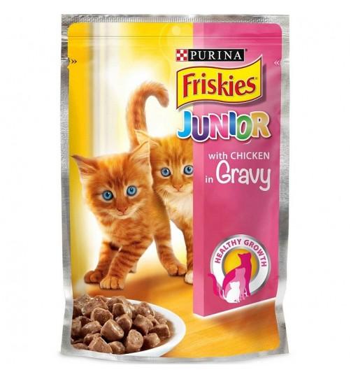 پوچ بچه گربه فریسکیز با گوشت مرغ