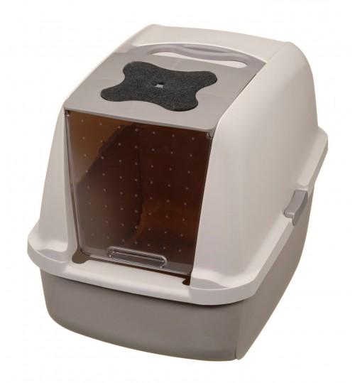 باکس توالت مسقف گربه Jumbo / طوسی
