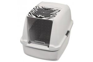 باکس توالت مسقف گربه Jumbo / طرح وایت تایگر