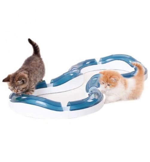 اسباب بازی گربه توپ و تونل سریع (بزرگ)/ Super Roller Circuit