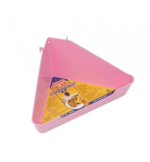 توالت همستر،خوکچه و خرگوش/ LW  corner toilet Med Pink