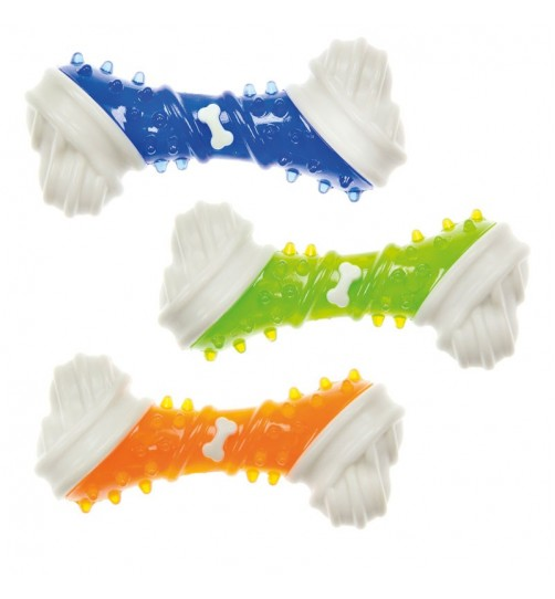 اسباب بازی استخوان دندانی سگ با طعم مرغ در 3 رنگ