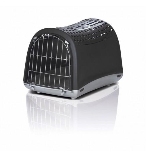 باکس حمل و نقل Linus Cabrio  درب از بالا  مخصوص سگ, گربه  و حیوانات کوچک/  مشکی
