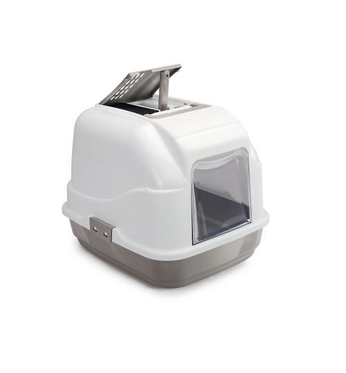 توالت مسقف مخصوص گربه مدل Easy Cat/ خاکی