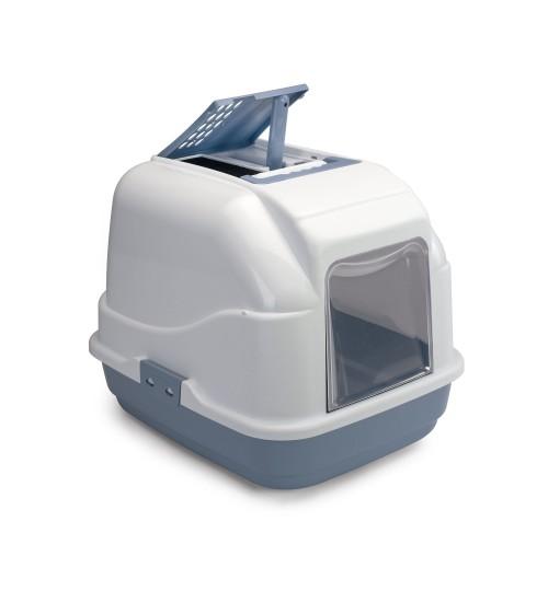 توالت مسقف مخصوص گربه مدل Easy Cat/ آبی