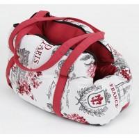 کیف حمل  (کریر) سگ و گربه طرح پاریس/ 40 سانتی