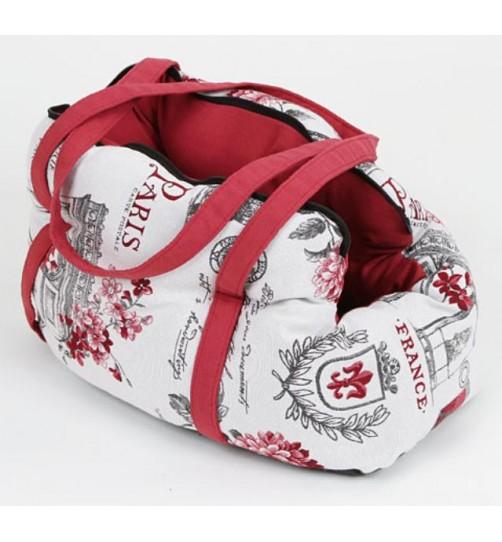کیف حمل سگ و گربه طرح پاریس/ 45 سانتی