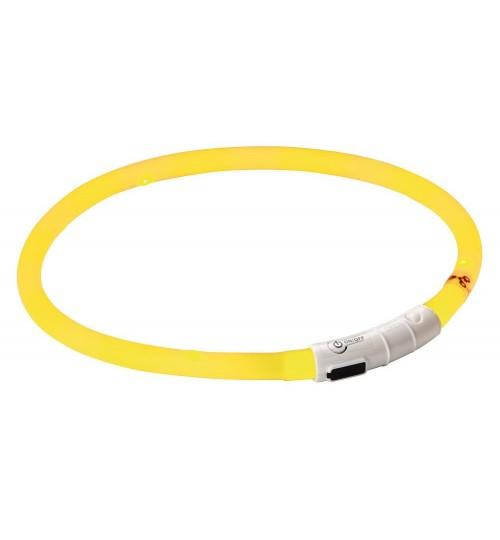 قلاده ایمنی نورانی LED  (چراغ دار) مخصوص سگ/ زرد-قرمز
