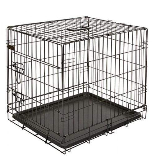 قفس فلزی سگ/ در 3 سایز/ مشکی