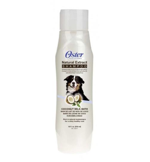 شامپوی سگ Oster حاوی شیر نارگیل و عسل/ 532 میلی لیتر