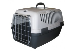 باکس حمل  Gulliver 1 با درب فلزی مخصوص سگ و گربه/ طوسی