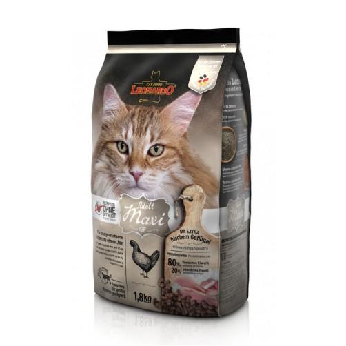 غذای خشک لئوناردو مخصوص گربه نژاد بزرگ با دانه بندی درشت/ 1800 گرم/ LEONARDO ADULT MAXI GF
