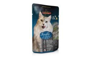 پوچ ماهی قزل آلا + کت نیپ لئوناردو مخصوص گربه بالغ/ 85 گرم
