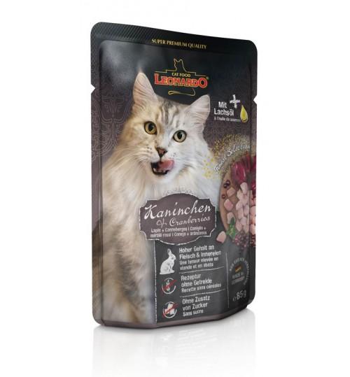 پوچ گوشت خرگوش + قره فاط لئوناردو مخصوص گربه بالغ/ 85 گرم