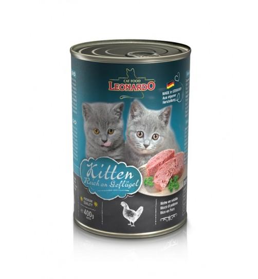 کنسرو بچه گربه لئوناردو/ 400 گرمی/ LEONARDO Kitten