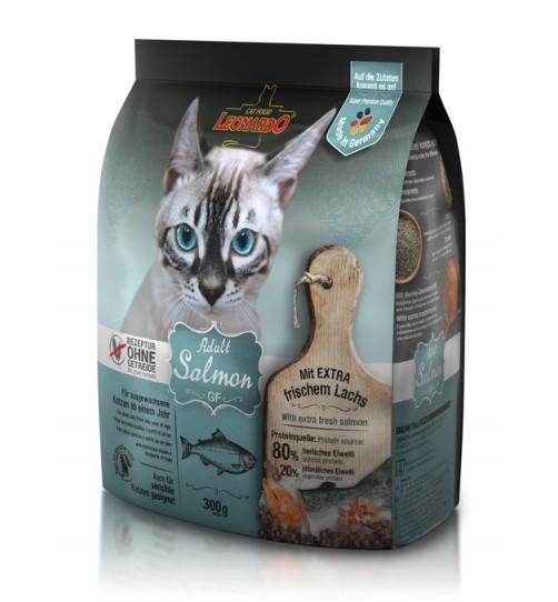غذای خشک بدون غلات گربه با طعم ماهی سالمون/ 300 گرمی/ Adult Salmon GF