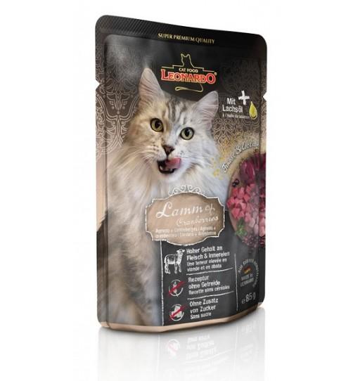 پوچ بره + کران بری لئوناردو مخصوص گربه بالغ - 85 گرم