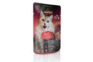پوچ گوساله و سبزیجات لئوناردو مخصوص گربه بالغ - 85 گرم
