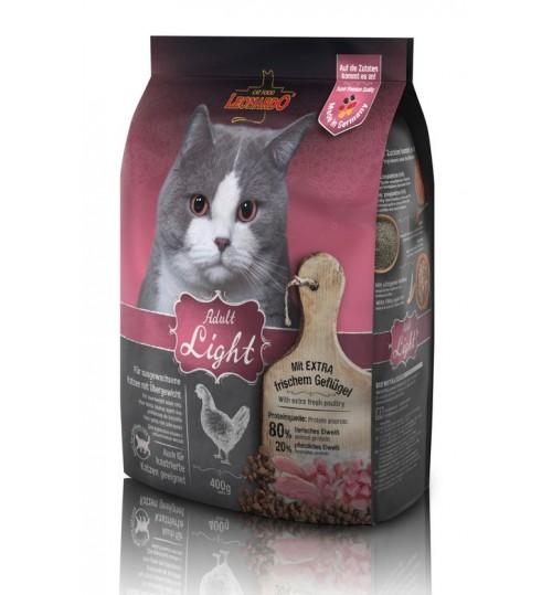 غذای خشک رژیمی لئوناردو مخصوص گربه های چاق و مستعد چاقی/ 400 گرم/ LEONARDO Adult Light
