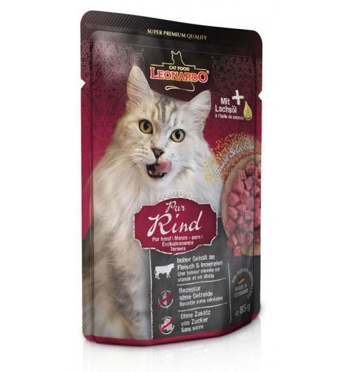 پوچ بیف لئوناردو مخصوص  گربه بالغ/ 85 گرم/ LEONARDO PURE BEEF