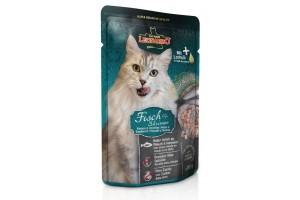 پوچ ماهی و میگو لئوناردو مخصوص گربه بالغ/ 85 گرم/ LEONARDO FISH & SHRIMP
