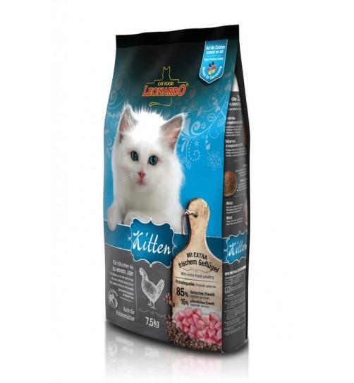 غذای خشک کیتن  لئوناردو  مخصوص  بچه گربه/ 7,5 کیلویی/ LEONARDO Kitten
