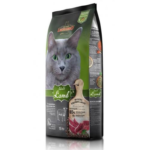 غذای خشک لئوناردو مخصوص گربه حساس و بدغذا (بره و برنچ)/ 15 کیلویی/  LEONARDO ADULT LAMB