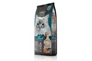 غذای خشک لئوناردو با طعم ماهی مخصوص گربه حساس و بدغذا/ 15 کیلویی/ LEONARDO Adult Fish