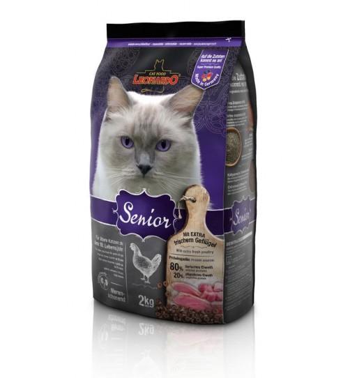 غذای خشک لئوناردو مخصوص گربه های مسن بالای 10 سال/ 2 کیلویی/ LEONARDO SENIOR