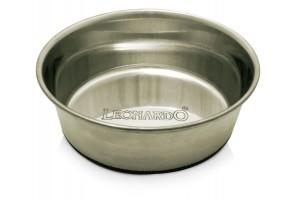 ظرف استیل سنگین گربه و سگ با کف تمام استاپ/ 0.4 لیتر