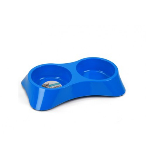 ظرف دوقلوی آب و غذای سگ- ملامینی- 2x800ml